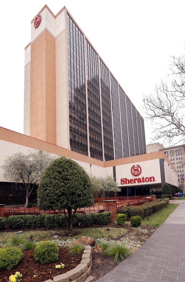 Photo -  Oklahoma legislators proposed a series of tax hikes in House Bill 1010, including a $5 per night fee for hotel rooms in the state, which could affect hotels such as the Sheraton Oklahoma City Downtown Hotel. [Photos by Steve Sisney, The Oklahoman]