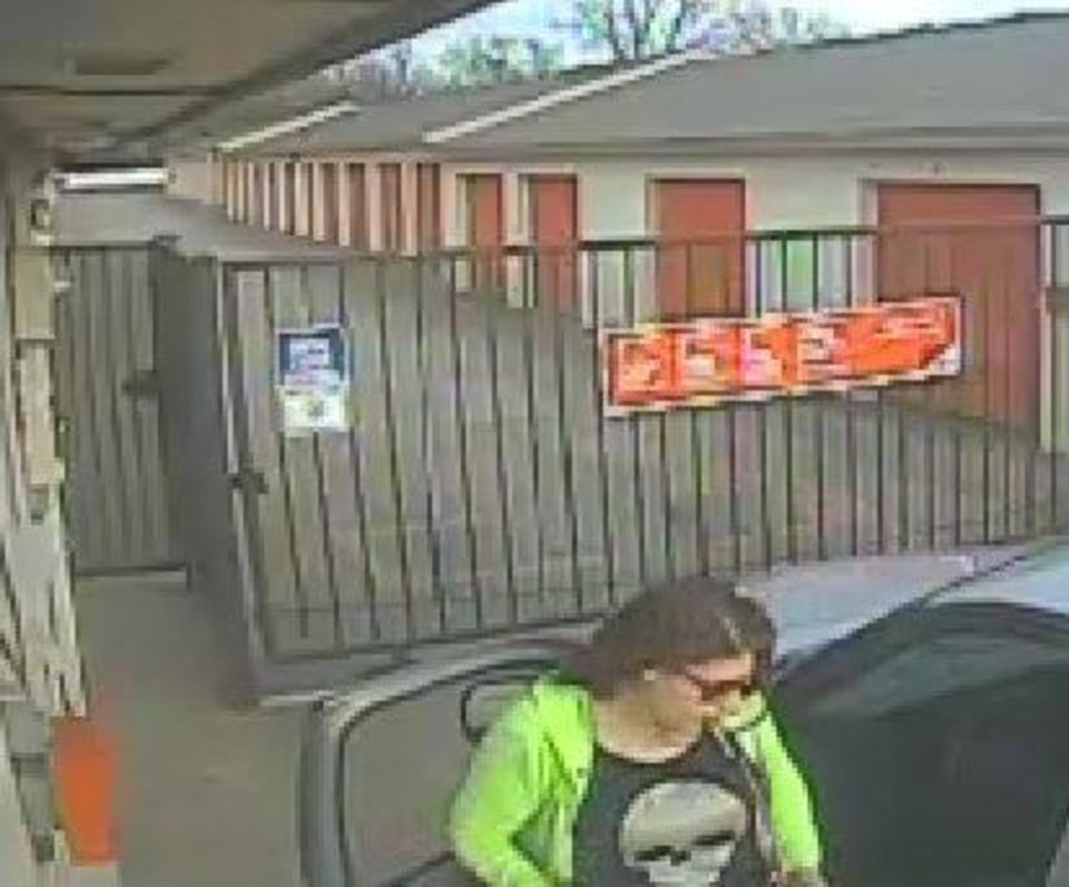 Photo - Oklahoma City police are looking to question a woman in connection with the theft of a classic car from a storage unit last month. [Photo provided by the Oklahoma City Police Department]