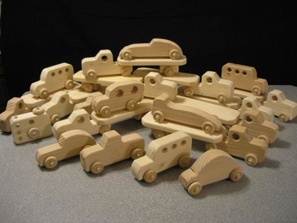 Photo -  Mustang High School woodworking students built toys to donate. [PHOTO PROVIDED]