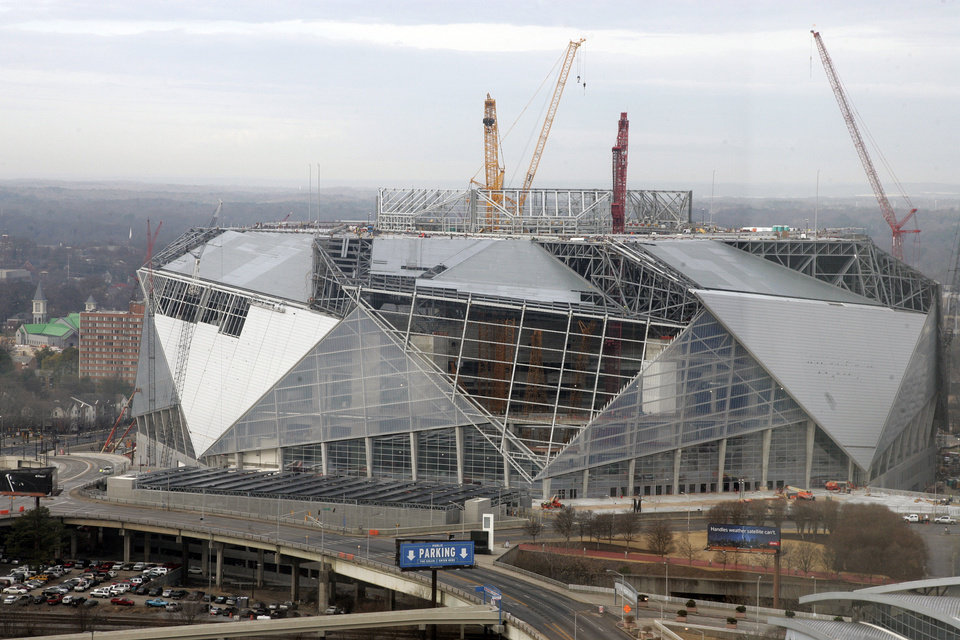New 1 6b atlanta stadium rises now old one to be for Mercedes benz stadium concerts