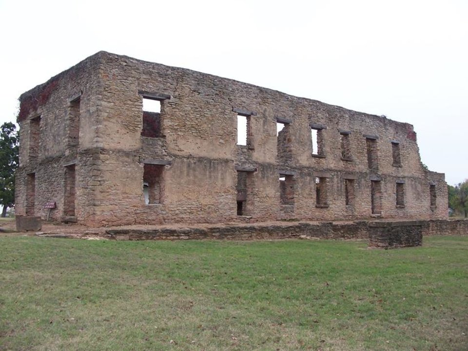 Photo - Ruins of the Fort Washita barracks. (RICHARD MIZE, THE OKLAHOMAN)