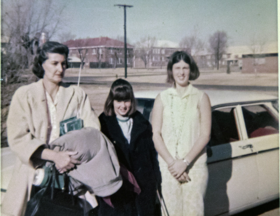 Photo - A photo copy taken on Friday, June 26, 2020, in Oklahoma City, Okla., of Maxine Fullerton, left, and her two daughters Susan and Robbie. Maxine was murdered in 1980 by a 16-year-old inmate of the State Training School for Boys, at Helena. [Chris Landsberger/The Oklahoman]