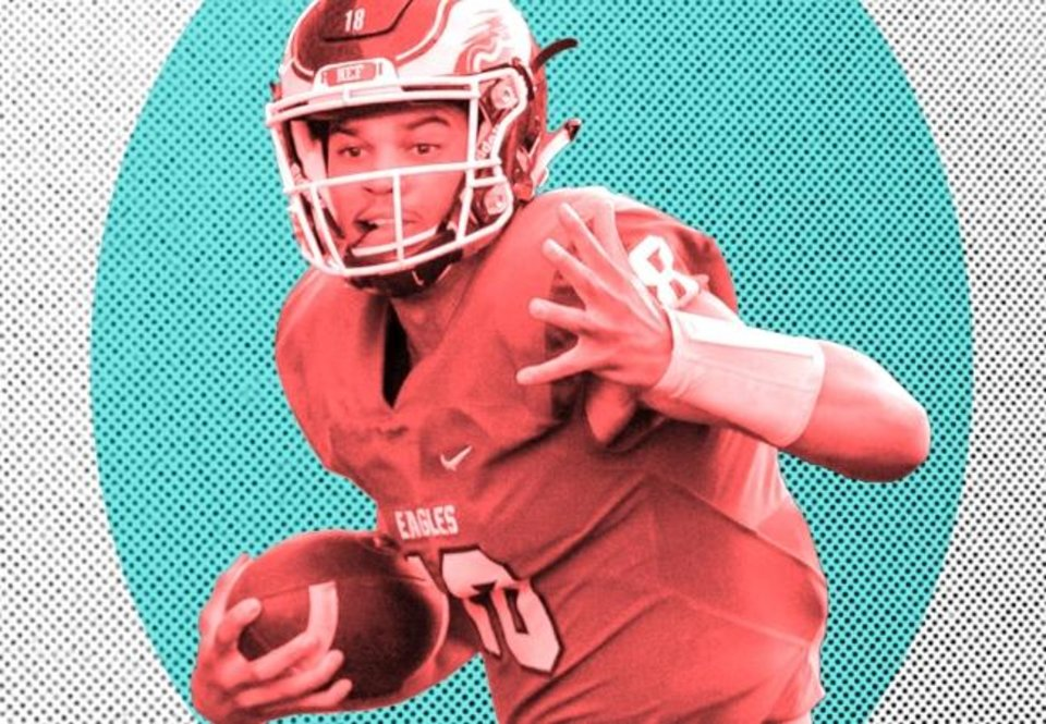 Photo -  Quarterback Caleb Williams is the highest ranked recruit the Sooners have signed since Gerald McCoy, who was No. 4 in the 2006 class, and the top quarterback since Rhett Bomar, who was also No. 4, in the 2004 class. [OKLAHOMAN PHOTO ILLUSTRATION]