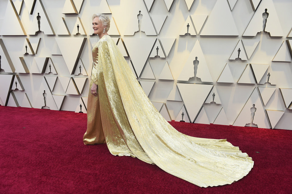 Photo -  Glenn Close arrives at the Oscars on Sunday, Feb. 24, 2019, at the Dolby Theatre in Los Angeles. (Photo by Jordan Strauss/Invision/AP)