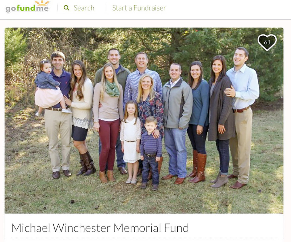 Photo -  Michael Winchester Memorial GoFundMe Page.