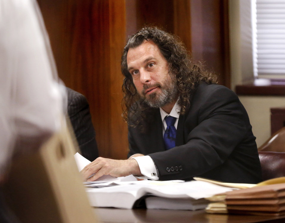 Photo -  Jay Silvernail, the attorney accused of shooting a fellow patron outside an Oklahoma City bar in 2016, is seen at the Oklahoma County courthouse Wednesday, May 10, 2017 during an earlier trial. [Jim Beckel/The Oklahoman, file]