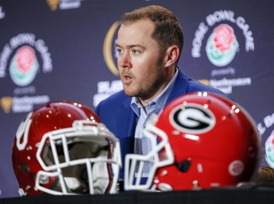 Photo -  Oklahoma and Georgia have played only once — in the 2018 Rose Bowl. Now they'll meet in 2023 in Norman and 2031 in Georgia after the schools announced a home-and-home series Monday. [NATE BILLINGS/THE OKLAHOMAN]