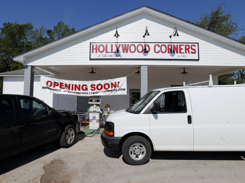 Photo -  Hollywood Corners, 4712 N Porter Ave., is in the process of being renovated and reopened as seen Wednesday north of  Norman. Photo by Steve Sisney, The Oklahoman   STEVE SISNEY -  THE OKLAHOMAN