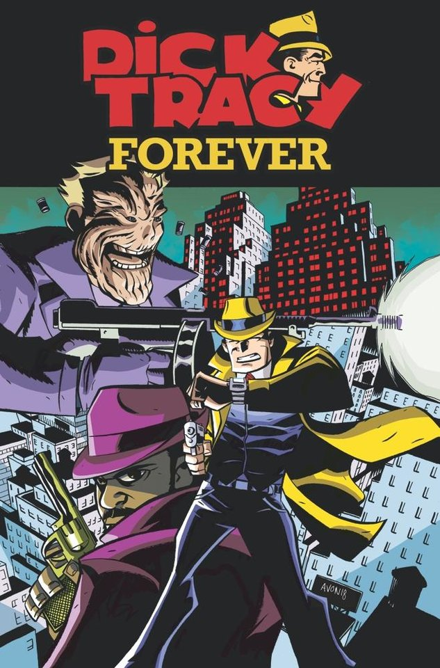 "Photo -  The cover to the second issue of ""Dick Tracy Forever."" The series showcases adventures of the police detective in different eras. [IDW]"