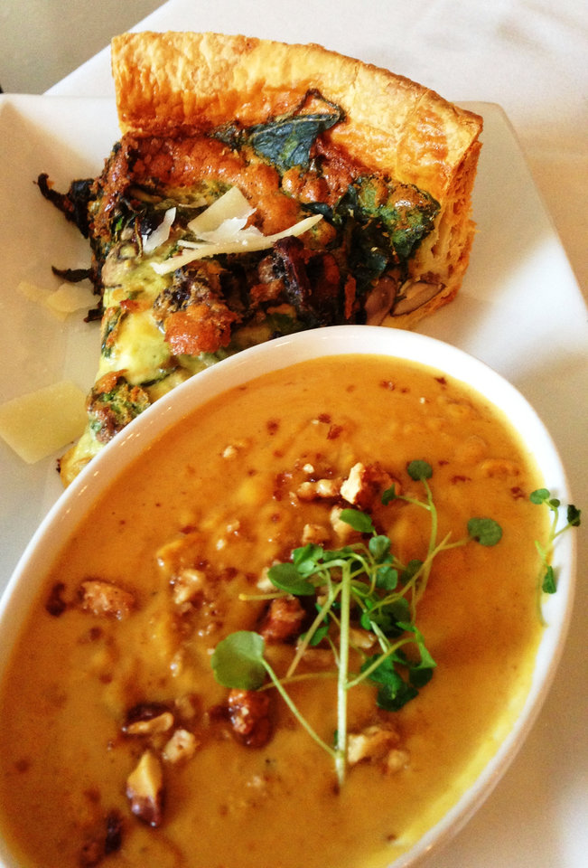 Photo -  Quiche of the day with Butternut Squash Soup from Venue 104.