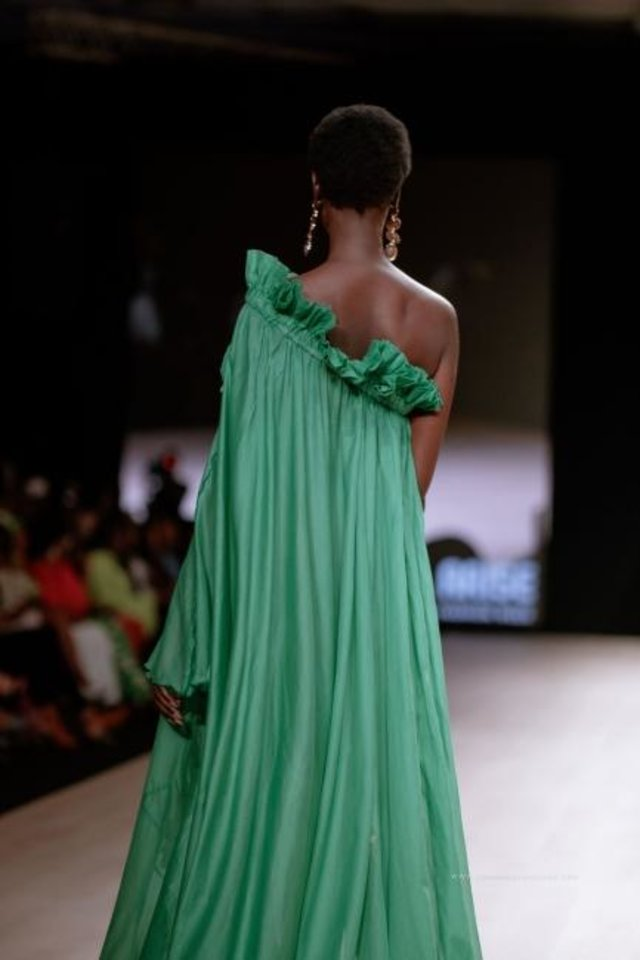 Photo -  The Torlowei collection on the runway at the 2019 Arise Fashion Week show in Lagos, Nigeria. [Torlowei]