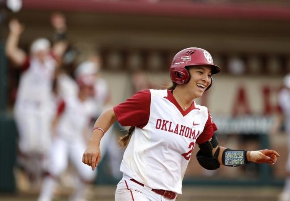 Photo -  Oklahoma's Sydney Romero might be the best of the two Romero sisters to play Division I softball. Sierra was an All-American for Michigan, but Sydney's statistics are comparable -- if not better. [Sarah Phipps/The Oklahoman]