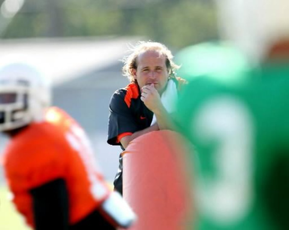 Photo -  Reports out of West Virginia indicate OSU offensive coordinator Dana Holgorsen is headed to Morgantown as the Mountaineers' new offensive coordinator and head coach in waiting.