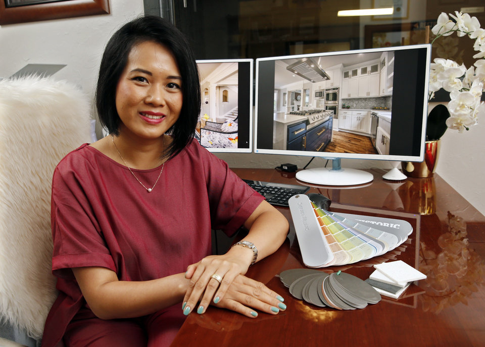 Photo -  Scarlet Le-Cao, executive vice president of Omega Investments LLC, among other things, leads its subsidiary Modern Touch by Omega, overseeing the reconstruction and renovation of historic, inner-city homes. [PHOTO BY STEVE SISNEY, THE OKLAHOMAN]