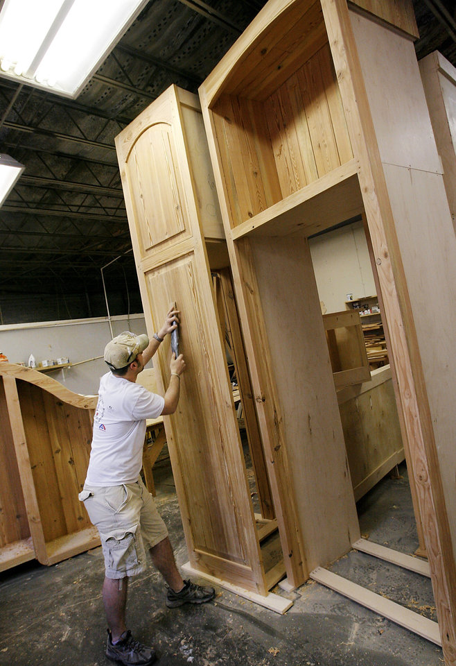 Gerald Glisson Works On A Cabinet Door At Monticello Cabinets And Doors,  512 SW 3 In Oklahoma City. Wednesday, Feb. 11, 2009 BY JIM BECKEL, THE  OKLAHOMAN ...