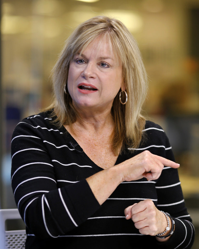 Photo -  Elected in November, Leslie Osborn will be sworn in as Oklahoma's labor commissioner on Jan. 14. She is shown here in an interview on Jan. 2 in The Oklahoman studio. [Photo by Jim Beckel, The Oklahoman.]