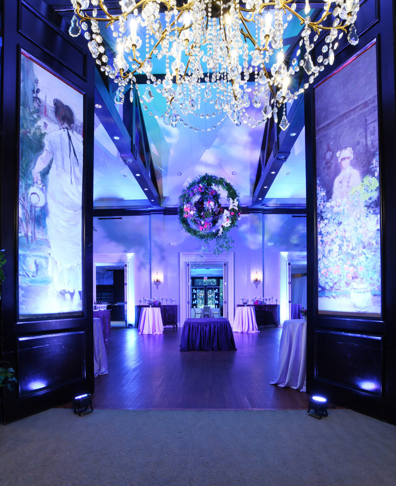 Photo - The entrance at the Ball with large artwork. PROVIDED PHOTO