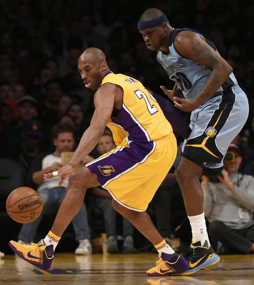 Zach randolph memphis grizzlies -  Photo Los Angeles Lakers Forward Kobe Bryant Left Steals The Ball From Memphis