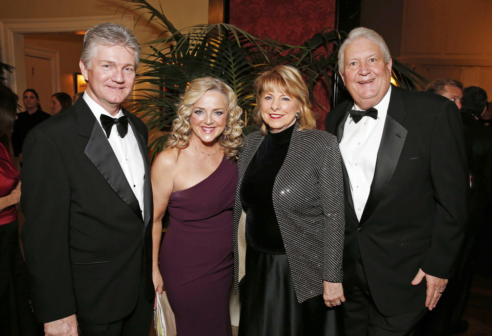 Photo - Scott and Deborah Senner, Susan and Mike Turpen. PHOTO BY STEVE SISNEY, THE OKLAHOMAN