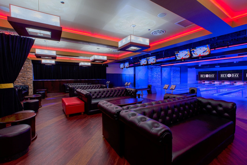 Photo -  The reconfigured bowling lounge at the new HeyDay Entertainment in Lower Bricktown will resemble the venue in Norman. [Photo Provided]