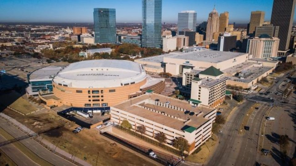 Photo -  City officials are considering plans for reopening public buildings in Oklahoma City, including Chesapeake Energy Arena. [Dave Morris/The Oklahoman]