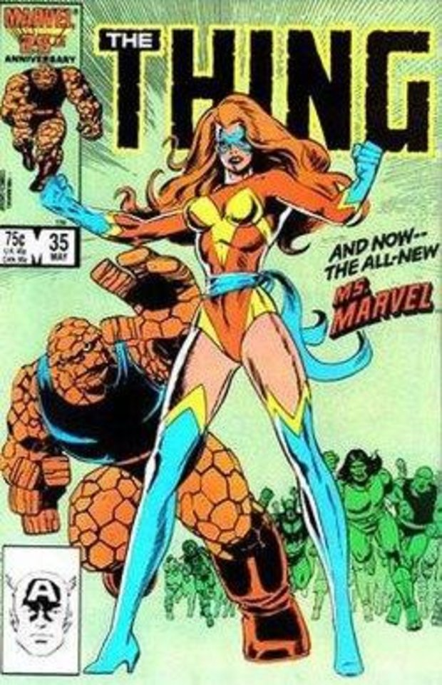 Photo - The second Ms. Marvel, Sharon Ventura, for a time joined the Fantastic Four. [Marvel]