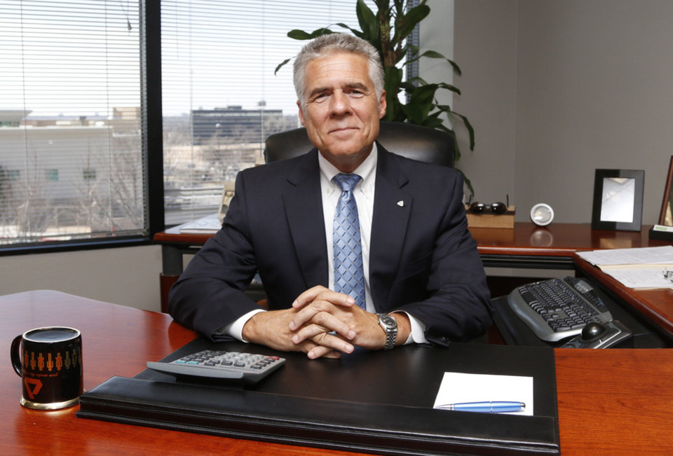 John Gladden Ceo Of Delta Dental Works In His Office Oklahoma City On Monday Photo By Paul Hellstern The Oklahoman