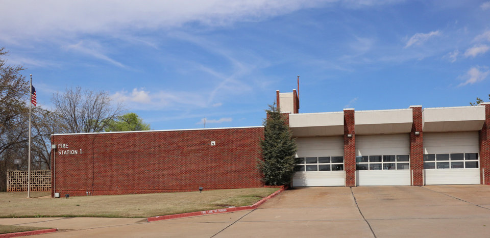 Photo - Exterior of Fire Station No. 1 in Edmond, Wednesday, March 18, 2020.  [Photo by Doug Hoke/The Oklahoman]