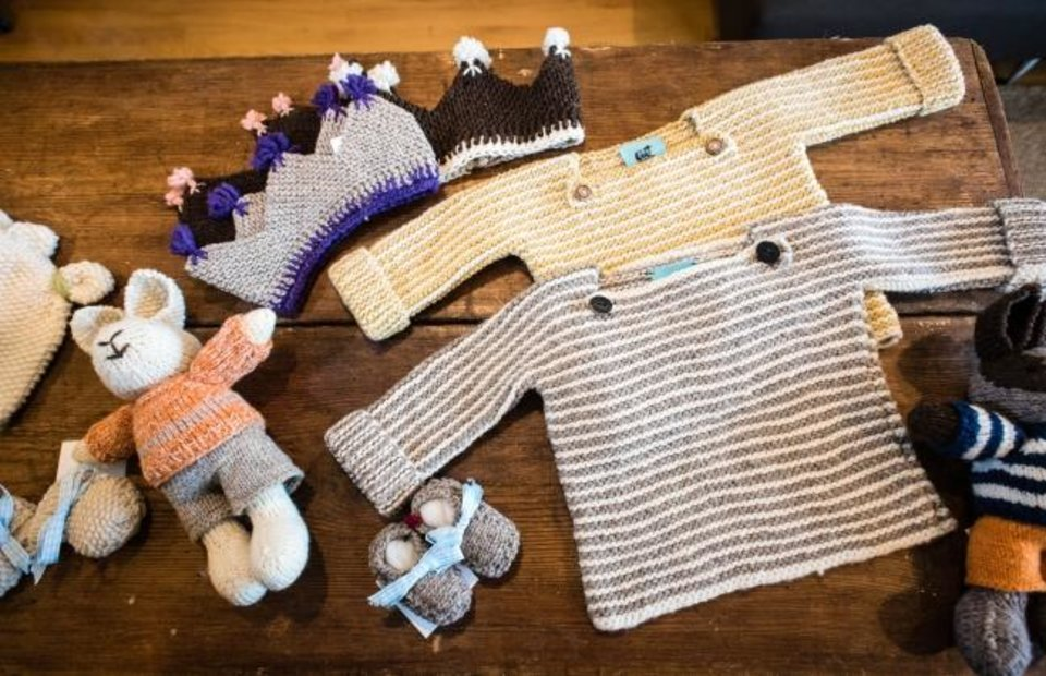 Photo -  Baby goods at the Gum Tree Farm Designs shop in Middleburg, Virginia. [The Washington Post/Andre Chung]