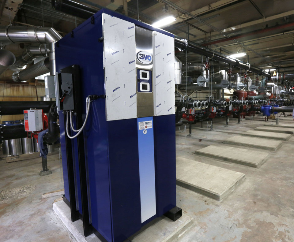 Photo -  New high efficiency boilers are being installed at Tinker Air Force Base's new aircraft maintenance facility inside the old General Motors plant in Oklahoma City, Okla. Wednesday, Sept. 7, 2016. Photo by Paul Hellstern, The Oklahoman