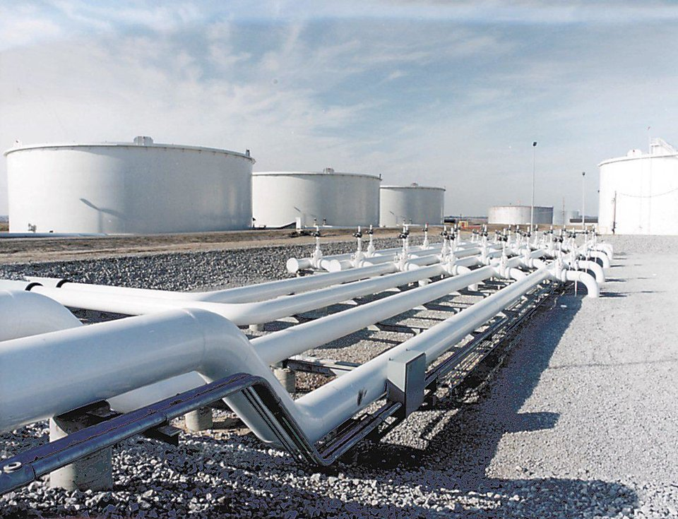 Photo - A file photo shows major oil storage terminals in Cushing. PHOTO PROVIDED
