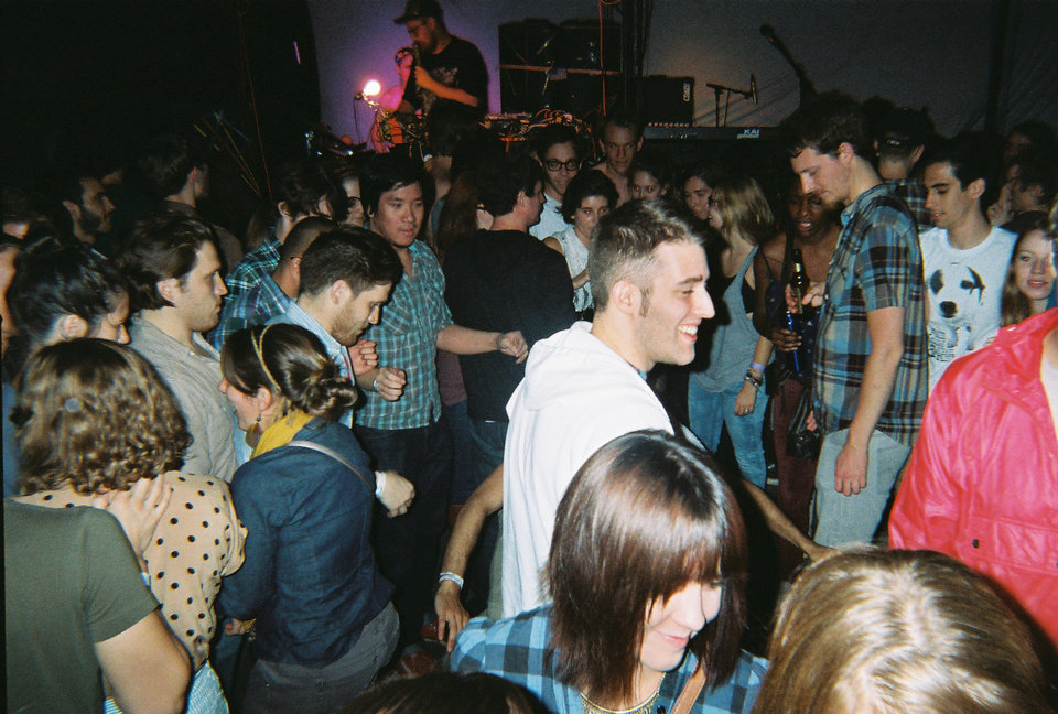 Photo -  Dan Deacon performs live at Opolis in 2012. [Photo by Nathan Poppe, The Oklahoman]