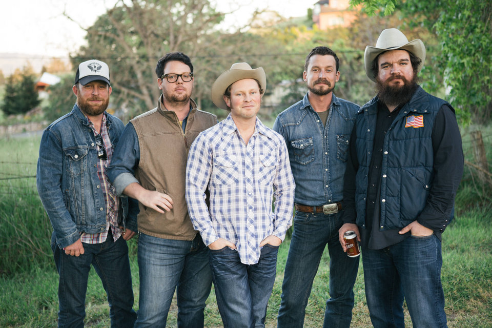 Photo -  Turnpike Troubadours are, from left, Ryan Engleman, Kyle Nix, Gabriel Pearson, Evan Felker and R.C. Edwards. The band co-organizes the festival with Jason Boland. [Photo provided]