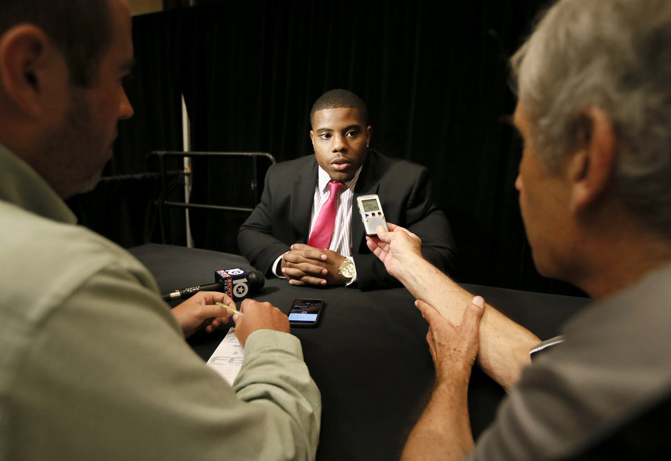 Photo - Texas Tech running back DeAndre Washington responds to questions during Big 12 Conference Football Media Days, Monday, July 20, 2015, in Dallas. (AP Photo/Tony Gutierrez)