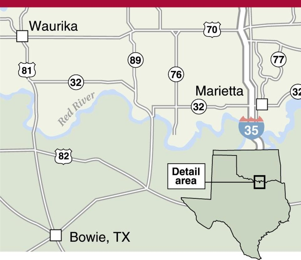 Graphic Site Map: Texas Town Isn't A Haven