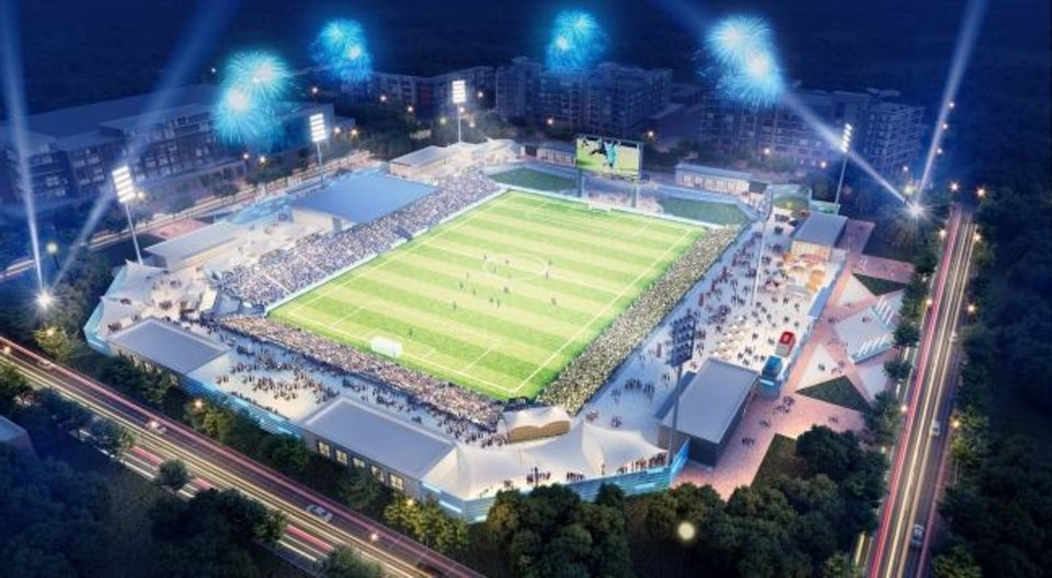 Photo -  A $40 million multipurpose stadium is part of the MAPS 4 proposal that will go before voters on Tuesday. [PROVIDED}