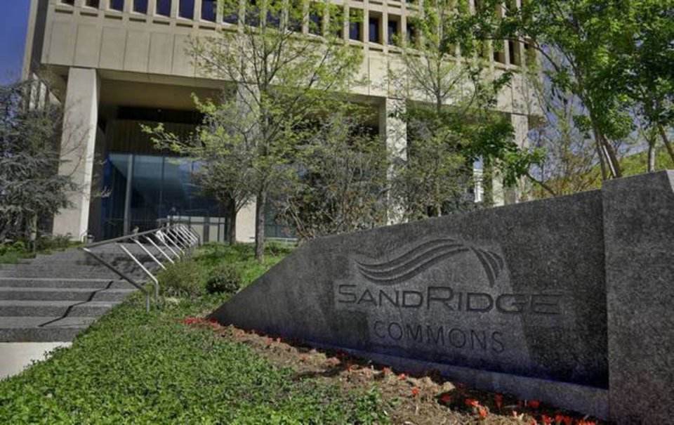Photo -  The entrance to the headquarters for SandRidge Energy Inc. in downtown Oklahoma City. [Photo by Chris Landsberger, The Oklahoman]
