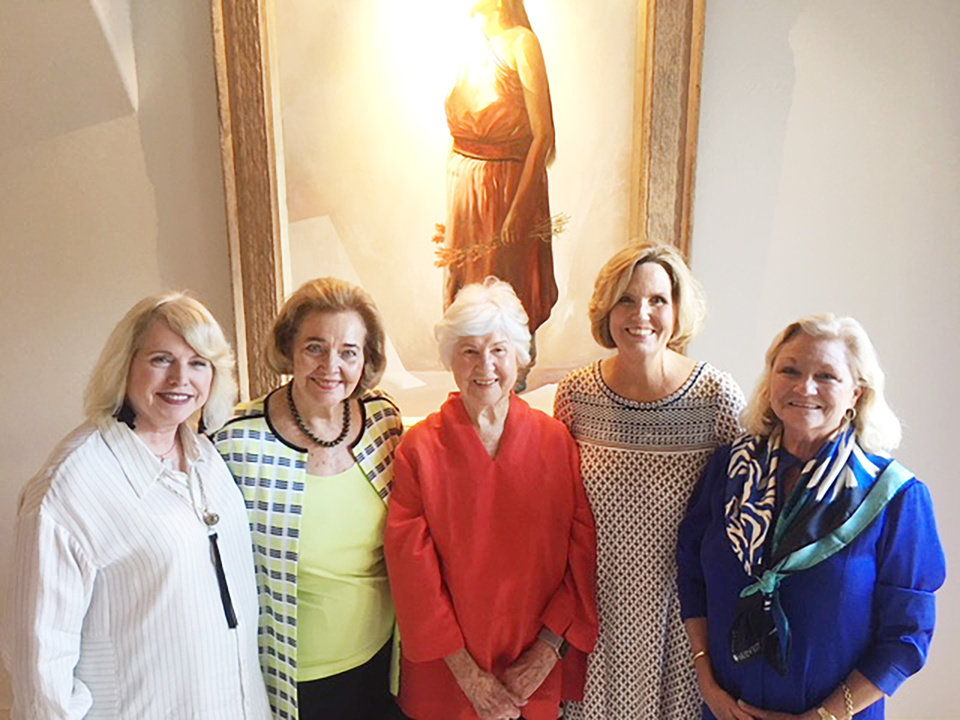 Photo - Linda Haneborg, Lou Kerr, Patty Roloff, Marion Paden, Meg Salyer. PHOTO PROVIDED