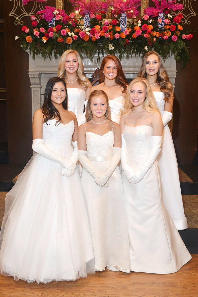 Photo -  In front: Lauren Elizabeth Gawey, Allison Grace Portman, Molly Taylor Beffort. In back: Caroline Armin Mueller, Hannah Grace Reen, Hannah Harlan Moore. (Not pictured Emma Morse Duncan.) [PHOTO BY DAVID FAYTINGER, FOR THE OKLAHOMAN]
