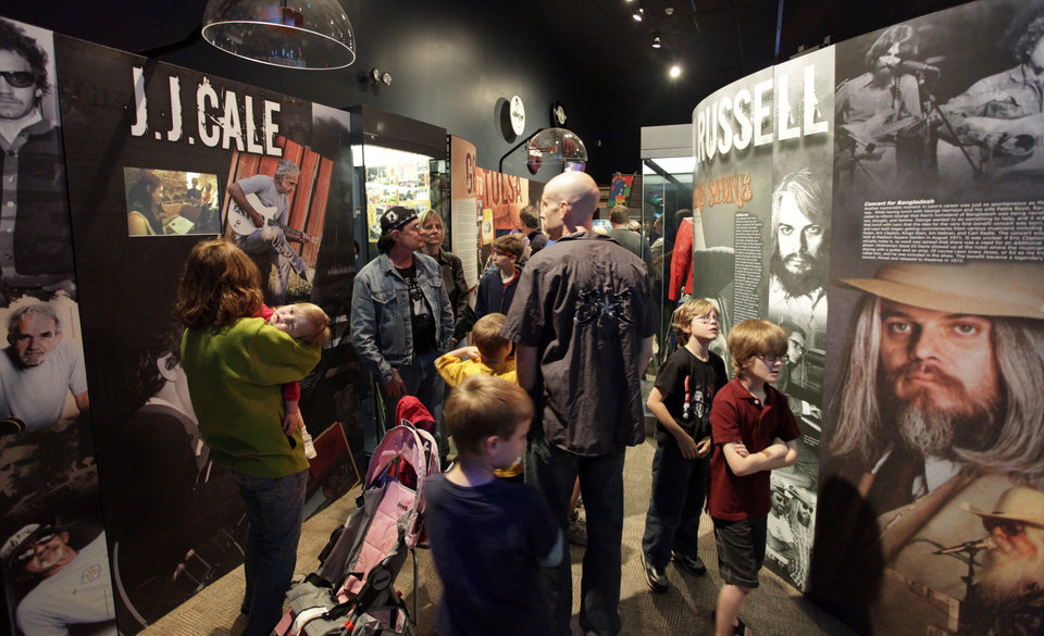 Photo - J.J. Cale and Leon Russell exhibit at the opening of