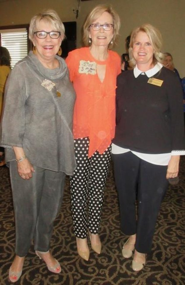 Photo -  Mary Reneau, Dee Richardson and Monica Szymanski.