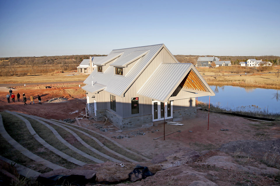 Photo -  The Prairie at Post addition includes a community meeting house with amphitheater. [PHOTO BY BRYAN TERRY, THE OKLAHOMAN]