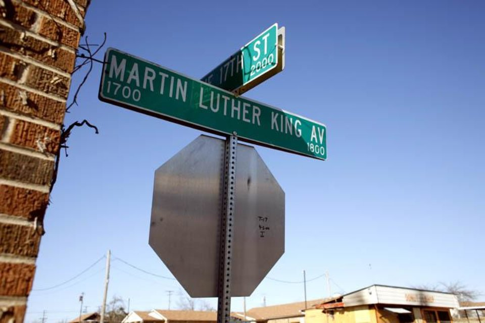 Photo -  A stop sign is pictured on 1700 block of Martin Luther King Avenue in Oklahoma City, Okla., Sunday, Jan. 10, 2009. Photo by Sarah Phipps, The Oklahoman