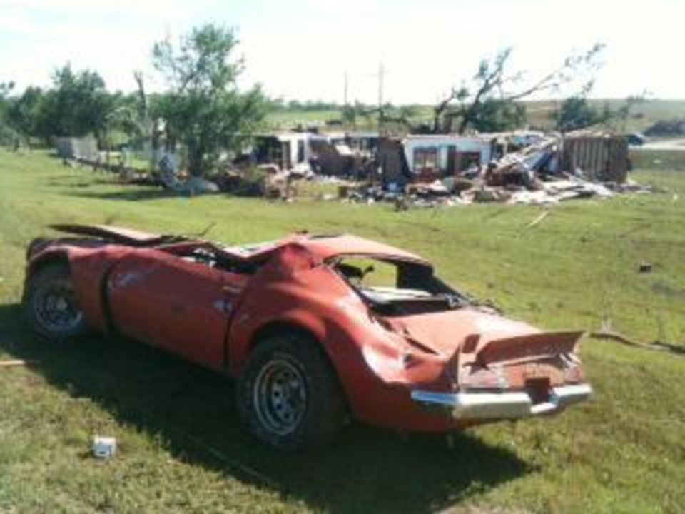 Photo - Storm damage from tornado that went through Chickasha Tuesday, May 24, 2011. Photo by Steve Sisney, The Oklahoman