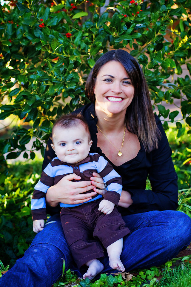 Photo - Lee Anne Stone holds her son, Isaiah Lee Stone, who died at 11 months from complications of pediatric epilepsy. Renzi and Lee Anne Stone have begun the Isaiah Stone Pediatric Epilepsy Lecture Series to raise money and awareness of the need for more research, specialists and treatment options for children with epilepsy. Photo provided.