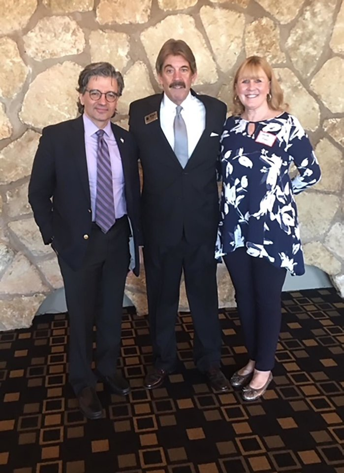 Photo - Dr. Zuhdi Jasser, Alan and Anita Webb. PHOTO PROVIDED