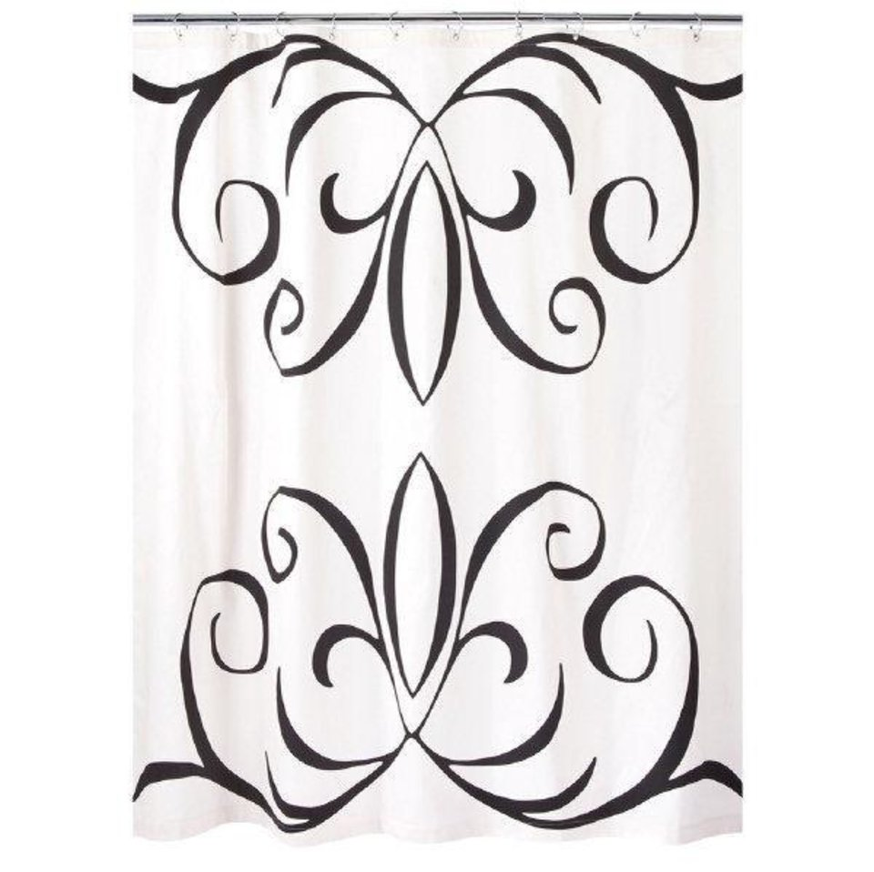 dwell shower curtain - color me clean bold and bright shower curtains add the perfect