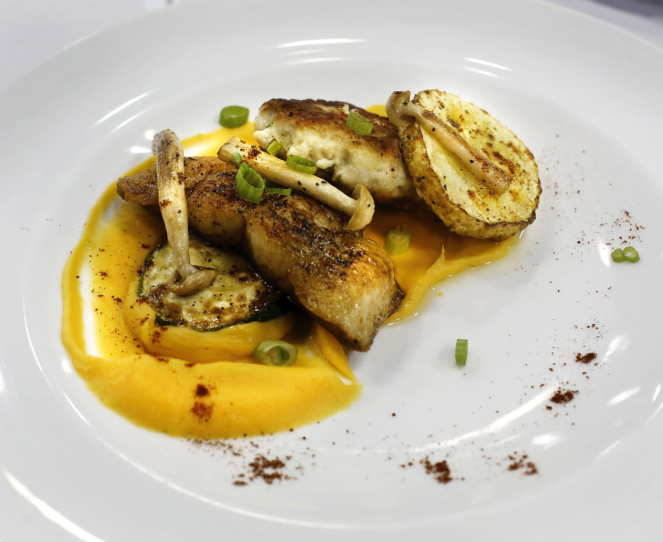 Photo -  The winning dish, as presented to the judges, used ingredients from an