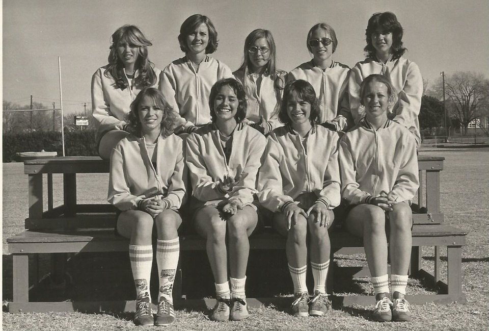 Photo - Roseann Gerah-Nida is pictured top row, second from right, above my twin Pamela Burkes-Smith.