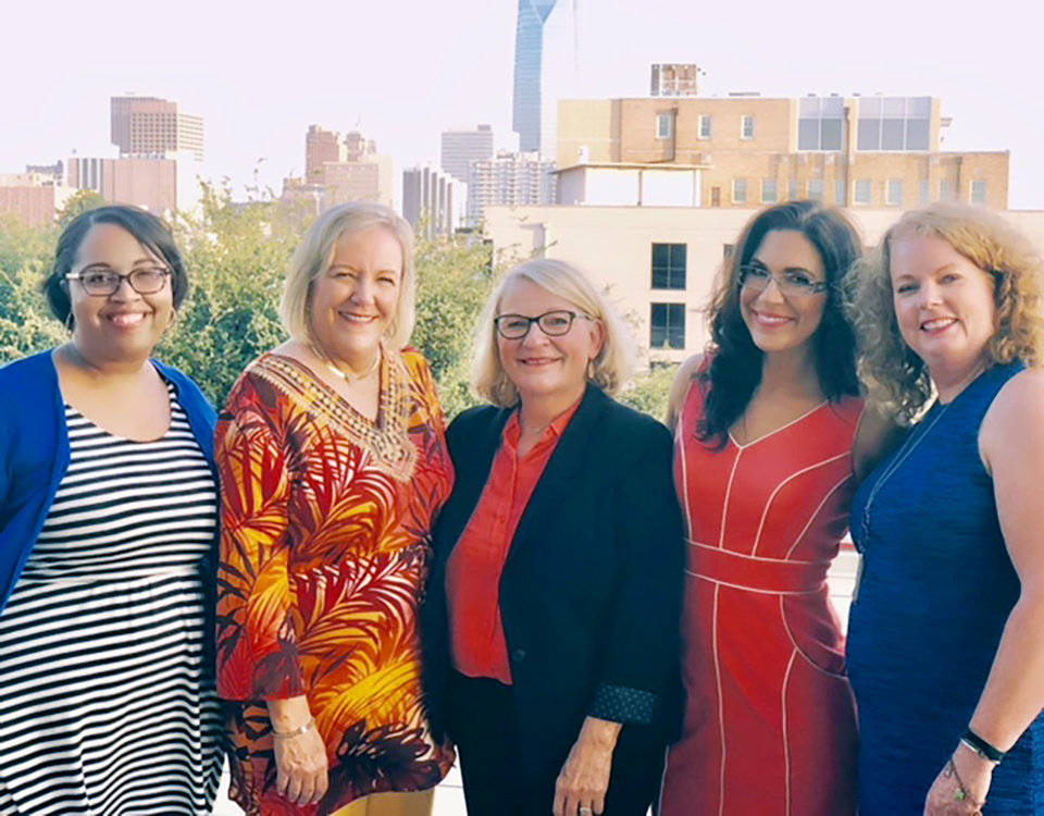 Photo - Brittney Wycoff, Cindy Allen, Sherry Fair, Jodi Lewis, the Hon. Barbara Swinton. PHOTO PROVIDED